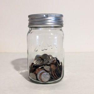 Kerr Glass Mason Jar Coin Bank